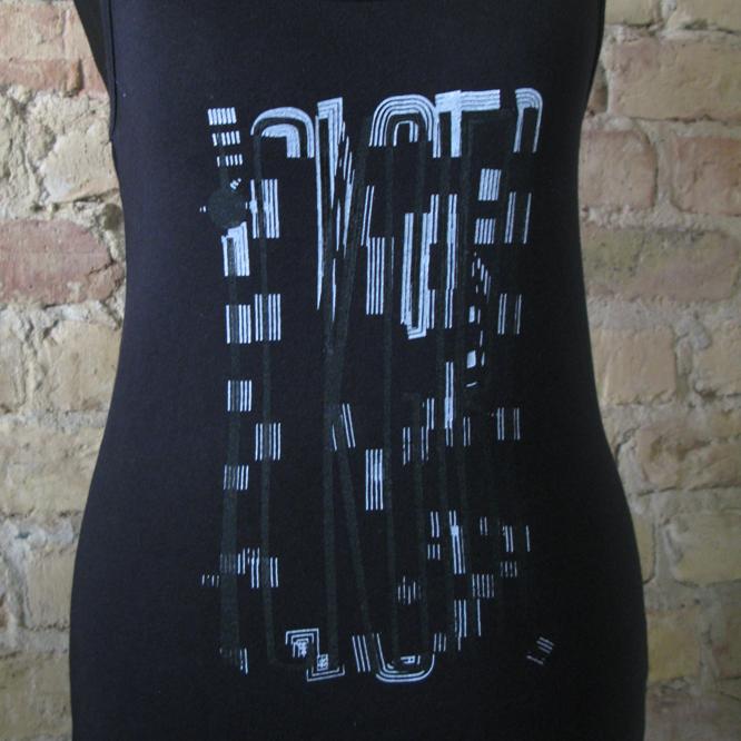 ICKGIRL Classic Jerse-Vest Frontprint Artwork BLACK Color sw Size M